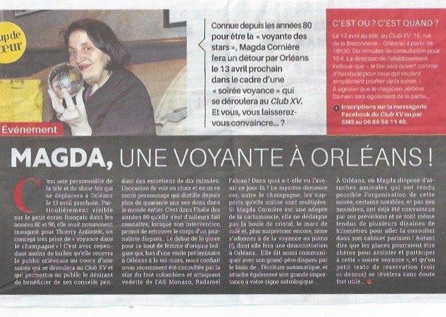 Article Hebdo Orleans Magda Voyante