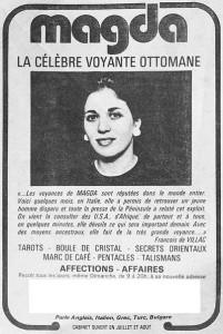 Article sur Magda Cornière, Voyante à Paris