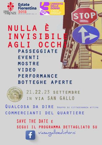 """Affiche """"Nulla è invisibile agli occhi"""" events à Florence"""